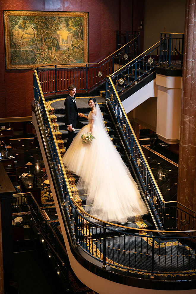 ウェスティンホテル東京で1番人気のフォトスポットのらせん階段は映画のワンシーンのような仕上がり