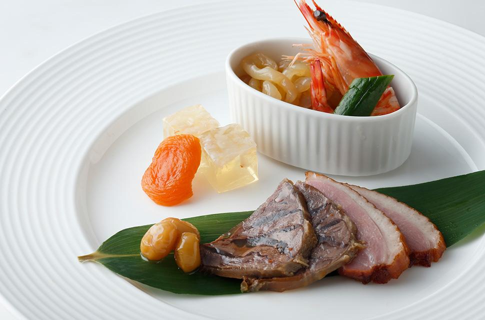 中国料理 福禄寿全盤 お祝い前菜の盛り合わせ