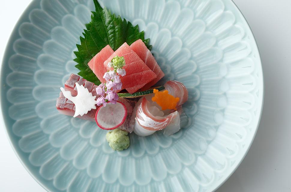 日本料理 お造り三種盛り