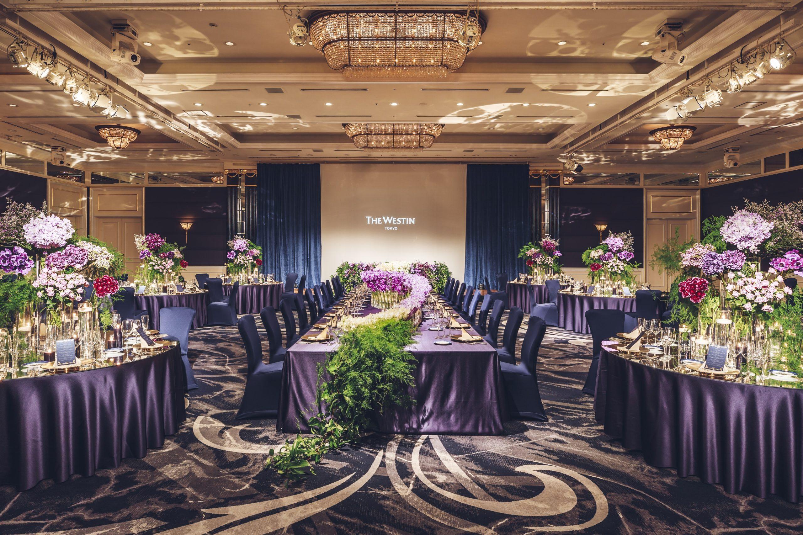 ウェスティンホテル東京のメインバンケット 80~480名でご利用いただける「ギャラクシーボールルーム」